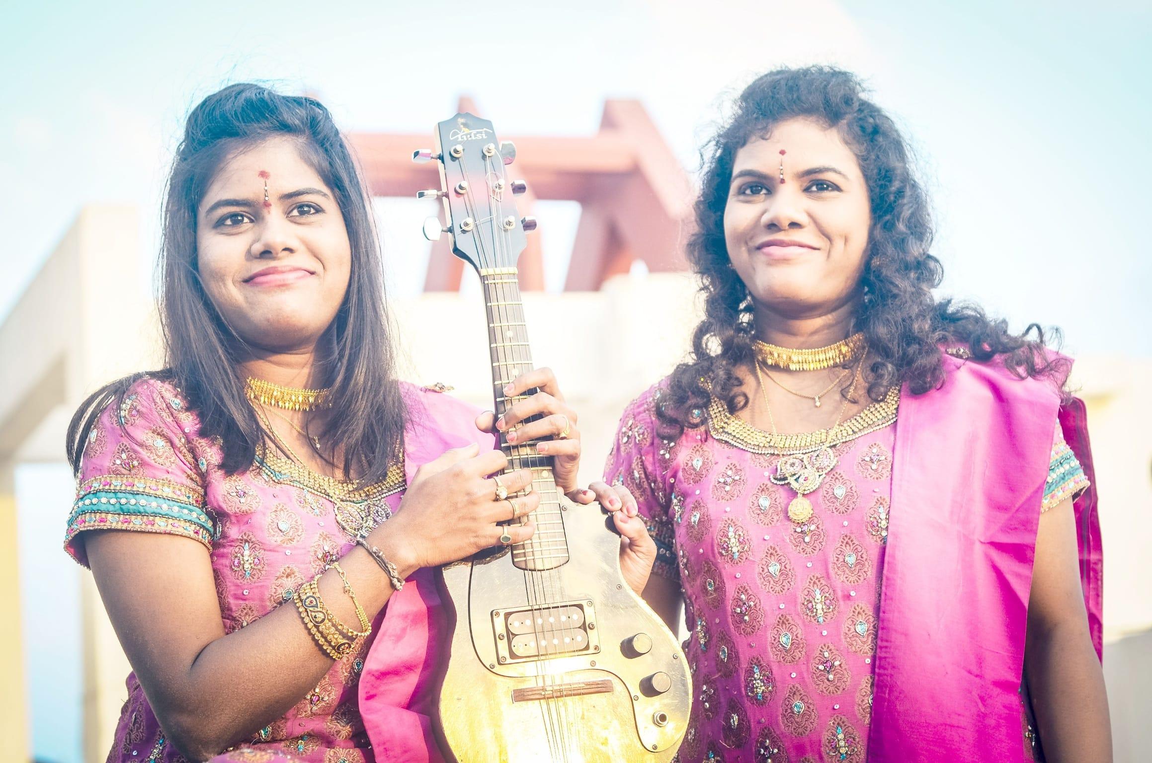 Mandolin Sisters Sreeusha and Sireesha.